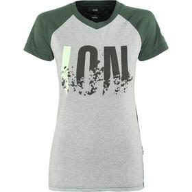 ION Letters Scrub AMP Koszulka kolarska, krótki rękaw Kobiety, grey melange